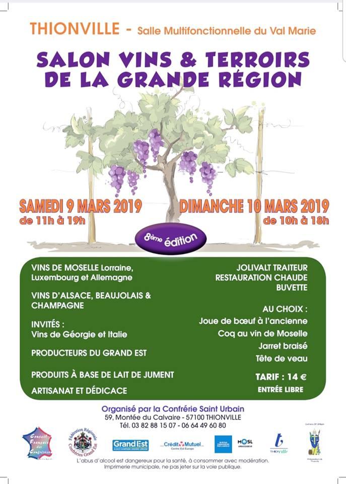 Salon vins & terroirs de la Grande Région